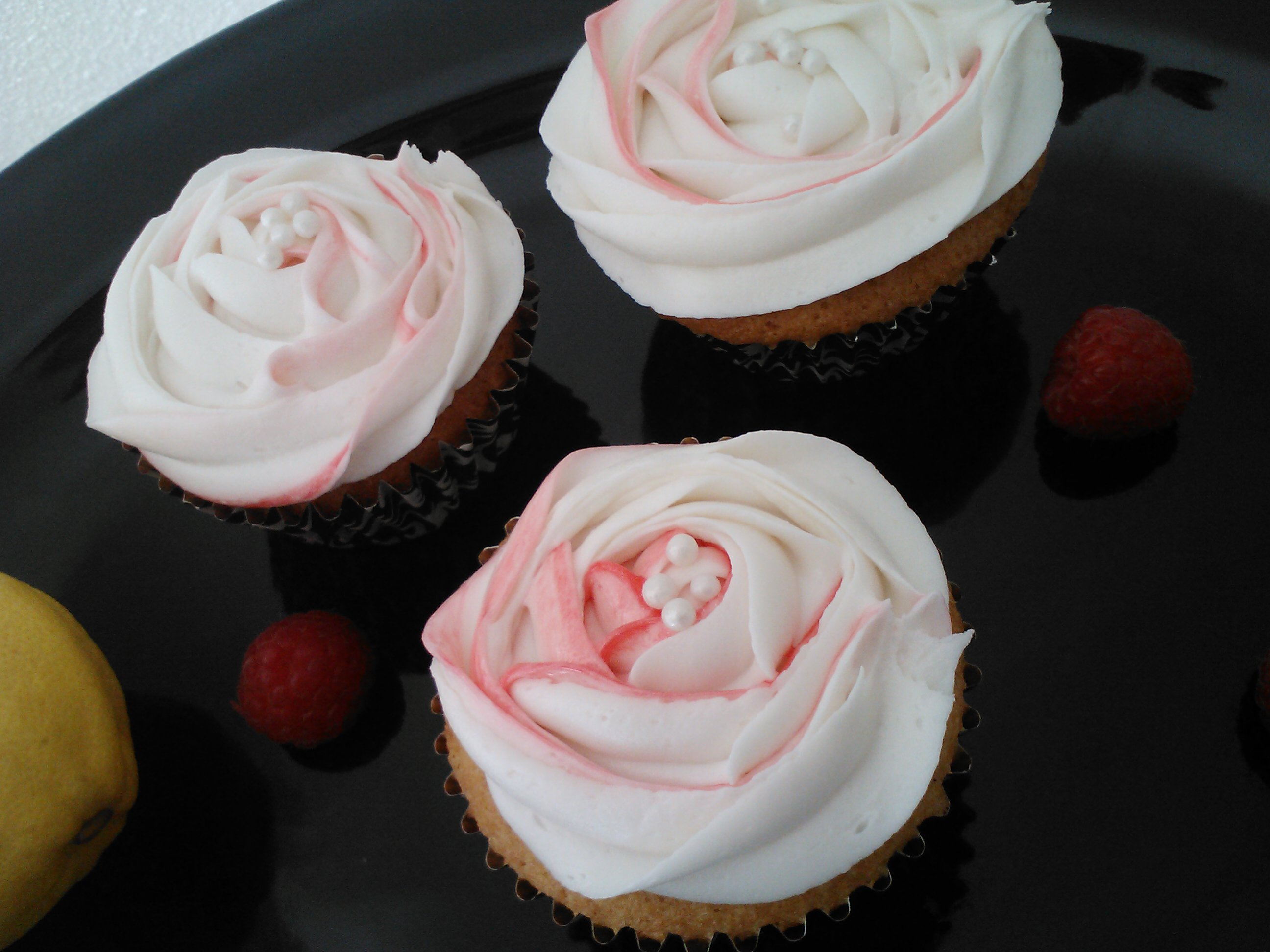 Lemonade Cupcakes with Chambord Frosting